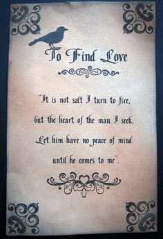A Spell to find love