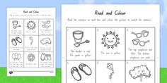 This handy worksheet features a lovely read and draw activity / activities. Top Sunglasses, Sentences, Seaside, Worksheets, Activities, Reading, Summer, Pink, Pictures