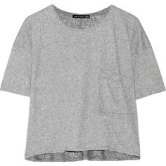 Rag & bone Hollins jersey T-shirt ($70) ❤ liked on Polyvore featuring tops, t-shirts, grey, gray crop top, boxy crop top, boxy tee, grey crop top und oversized jersey tee