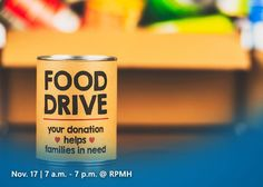 It's happening THIS THURSDAY! Help us reach 1,000 donations in either canned or non-perishable foods, or cash gifts. The drive-thru drop off will be on Nov. 17, 7 a.m. - 7 p.m. at the RPMH Front Entrance. All donations benefit Gaylord Pantry at First United Methodist Church in Sweetwater. Help us spread the word and make this holiday season special for those less fortunate.