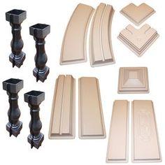 6 Piece Baluster & Railing Concrete Mold Set | Concrete