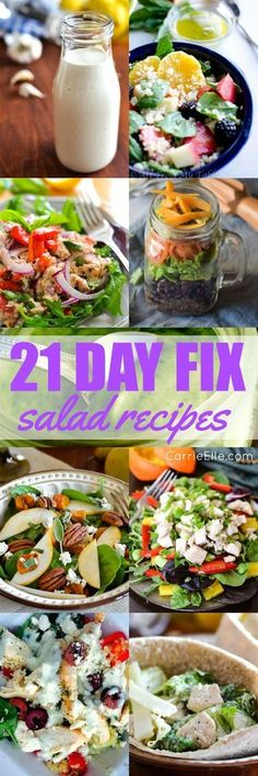 21 Day Fix Salad Recipes {that are totally NOT boring} (Macros Diet Recipes) 21 Day Fix Diet, 21 Day Fix Meal Plan, Healthy Salad Recipes, Diet Recipes, Healthy Snacks, Lunch Recipes, Healthy Dinners, 21 Day Fix Recipies, Vegetarian Recipes