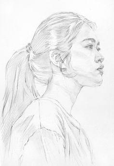 Pencil Portrait Drawing, Portrait Sketches, Watercolor Portraits, Portrait Art, Drawing Sketches, Pencil Drawings, Art Drawings, Human Face Drawing, Face Sketch