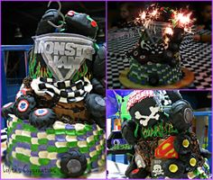 Grave Digger inspired cake