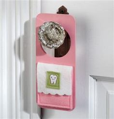 Tooth fairy door hanger - made from wood and felt