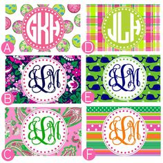 Personalized Credit Card Design Preppy by thepreppycafe on Etsy, $8.00
