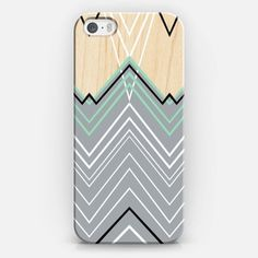 #mint #green #chevron #chevy #black #white #projectm #casetify #wood #case