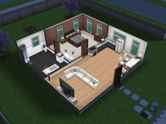 Small and simple sims freeplay house Sims freeplay houses Sims house Amazing minecraft houses