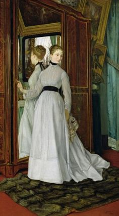 James Jacques Joseph Tissot - L'Armoire (1867)