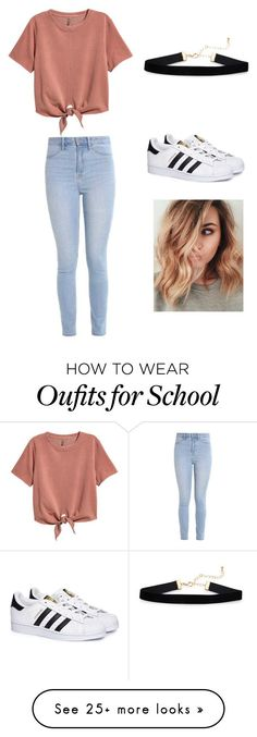 """Schools day"" by annademeny79 on Polyvore featuring H&M, Hollister Co. and adidas"
