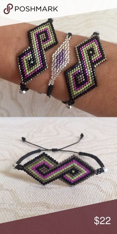 Amazing Hand Made Infinity Bracelet *Hand made from artisans of Jalisco, Mexico.                     *Made of fine crystal beads, Swarovski crystals and waxed thread                                                                      *Every piece is unique.                                                       *Artisans recommend to don't wet the beads.            *Price is firm Jewelry Bracelets