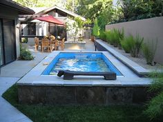 Turn your backyard into a private oasis with an Endless Pools swim spa. Install above ground or inground. Swimming Pool Pictures, Small Swimming Pools, Small Backyard Pools, Small Pools, Swimming Pools Backyard, Outdoor Pool, Outdoor Spaces, Lap Pools, Outdoor Seating