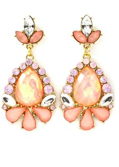 Already thinking of spring...Rose Crystal Earrings