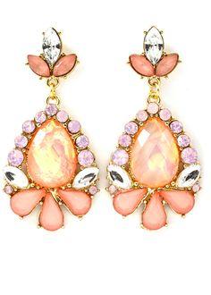 Rose Crystal Earrings