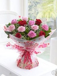 Send flowers with Flowers. Flower Delivery available in Dublin and nationwide. Flowers For You, Beautiful Flowers, Dublin, Red And Pink Roses, Pale Pink, Anniversary Flowers, Hand Bouquet, Order Flowers Online, Floral Arrangements