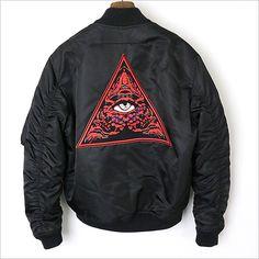 a9fdcf7f906718 MODESCAPE Rakuten Ichiba Shop  GIVENCHY ジバンシィ 17AW back embroidery applique  design Bonn bar jacket MA-1 men black 52