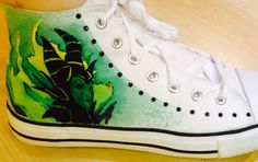 Maleficent shoes I painted for a friend