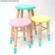 Hand Painted Furniture, Paint Furniture, Upcycled Furniture, Kids Furniture, Furniture Makeover, Furniture Design, Kids Decor, Diy Home Decor, Painted Stools