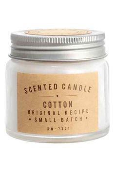 Scented candle in glass jar