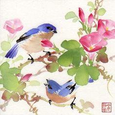 Magnifiques peintures d'oiseaux by Jinghua Gao Dalia - BONHEUR DE LIRE