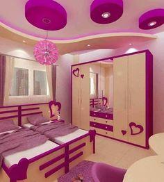 Bedroom False Ceiling Design, Bedroom Wall Designs, Room Design Bedroom, Kids Room Design, Cute Bedroom Decor, Bedroom Decor For Teen Girls, Princess Room Decor, Lounge Design, Retro Stil