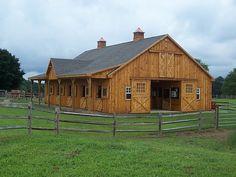 Wood Barn with shingle roof