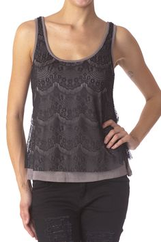 Double Layer Lace Top $11.99