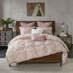 INK+IVY Masie Blush 3 Piece Cotton Comforter Mini Set | Overstock.com Shopping - The Best Deals on Comforter Sets