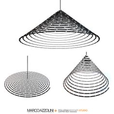 Cosmo Spiral Multi-Led Lamp  by Marco Azzolini