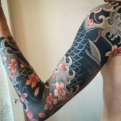 i like horimono. - Healed tattoo. Made at @smilindemonstattoo . Shoot...