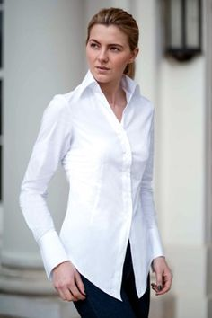 Perfekcija Shirts UMA Perfect White Shirt, contemporary classic styling, inspired by the iconic movie Pulp Fiction. Source by perfekcija Shirt Dresses White Shirts Women, Dress Shirts For Women, Blouses For Women, Classic White Shirt, Corsage, Couture Tops, Business Dresses, Shirt Style, Pulp Fiction