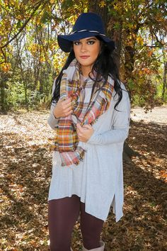 Calm With Me Tunic In Gray