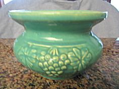 McCoy grape cuspidor; very attractive item for sale at More Than McCoy on TIAS at http://www.morethanmccoy.com
