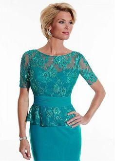 $139.99 Mother of The Bride Dresses Scoop Sheath/Column Chiffon