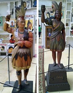 African American History, American Indians, Native American, Modern Tribe, Cigar Store Indian, Cigar Shops, Wood Carving, Folk Art, The Darkest