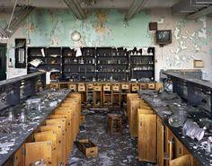 Ruins of Detroit exhibit. Biology Classroom, Cass Technical High School, 2008