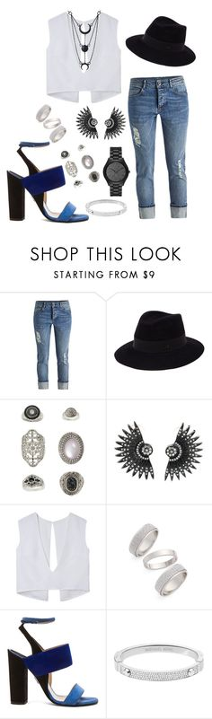 """Untitled #331"" by chilosa3325 on Polyvore featuring Maison Michel, Topshop, Paul Andrew, Michael Kors, women's clothing, women, female, woman, misses and juniors"