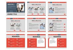 Business Gray PowerPoint Template for #elearning
