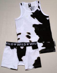 Moooh ... underwear set from WILD. Available on www.ukkiesundies.be