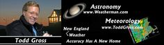 Todd Gross is a weatherman and astronomer.  His website provides information ranging from telescope reviews to the astro-thought of the day.