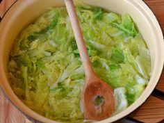 Kelkáposzta fasírt recept lépés 1 foto Okra, Lettuce, Guacamole, Bacon, Food And Drink, Vegetables, Ethnic Recipes, Gumbo, Vegetable Recipes