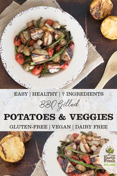 BBQ Grilled Potatoes and Mixed Vegetables Dried Potatoes, Roasted Potatoes, Mixed Vegetables, Veggies, Vegan Gluten Free, Dairy Free, Roasted Potato Recipes, Vegetarian Recipes, Healthy Recipes