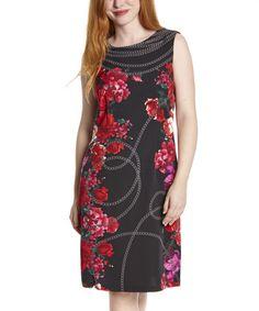 Loving this Black & Fuchsia Status Sleeveless Dress on #zulily! #zulilyfinds