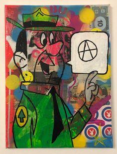 Be Free by Barrie J Davies 2020 Mixed Media Painting, Mixed Media Canvas, Brighton England, Art Paintings, Pop Art, Street Art, Art Prints, Artist, Free