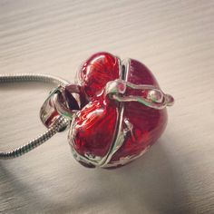 Red Heart Shaped Box Necklace Locket. Valentine's Day Love.