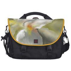 White Iris Design Laptop Bag