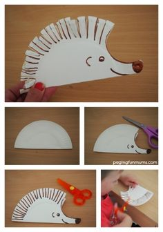 Hedgehog Paper Plate Craft Cute Paper Plate Craft perfect to practice early scissor skills! The post Hedgehog Paper Plate Craft appeared first on Paper Ideas. Preschool Crafts, Fun Crafts, Crafts For Kids, Science Crafts, Preschool Christmas, Christmas Crafts, Motor Skills Activities, Preschool Activities, Time Activities
