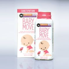 baby-move-product-image #constipation #prunejuice  Infants under 6 months take less than 1/2 of recommended amount