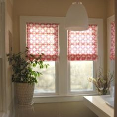 Custom roman blinds - no sewing.