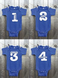One 1 Monthly Girl Glitter Onesie. Monthly by LaStradaDesigns Baby Outfits, Newborn Outfits, Boy Onesie, Onesies, Baby Monat Für Monat, Baby Shirts, Family Shirts, Baby Body, Baby Milestones